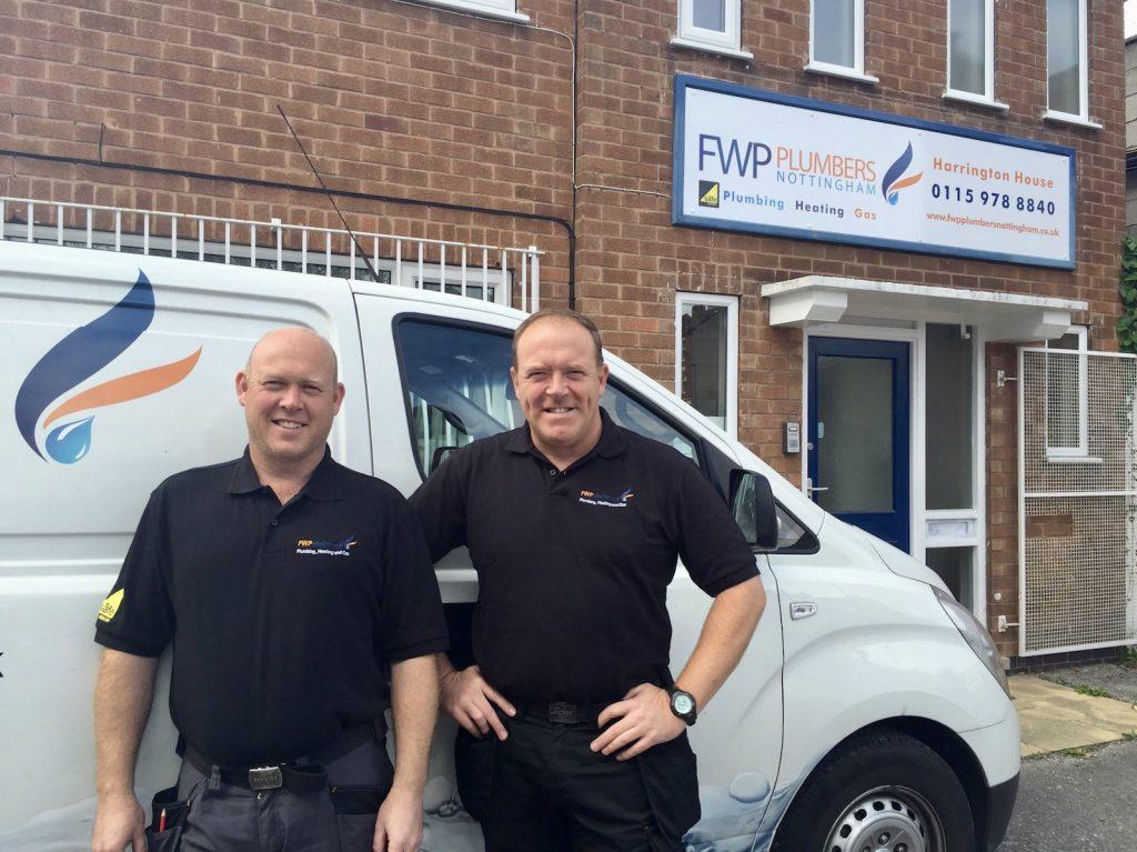 FWP Plumbers Nottingham Directors Steve and Vinny