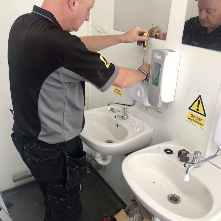 Commercial Plumbing Sink Fixing Leaks FWP Plumbers Nottingham