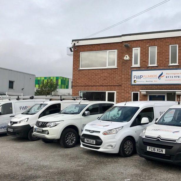 FWP Plumbers Nottingham Premises FWP Vans